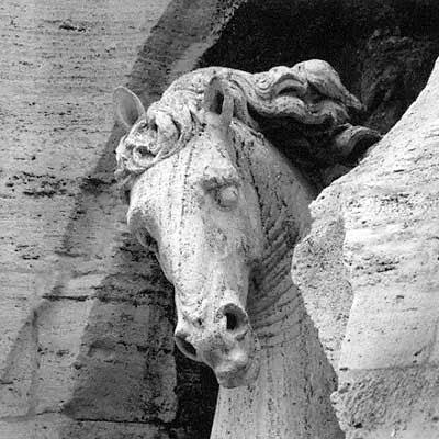Cavallo del Bernini, Fontana dei Fiumi