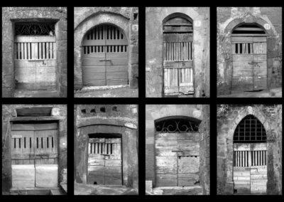 Sorano, porte di cantine - 1979